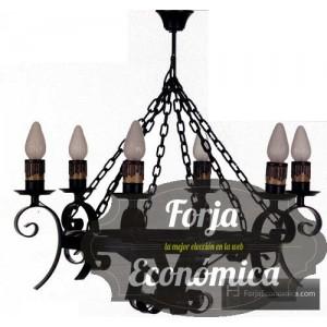Lampara de Forja CLAVE DE FA 6 Luces