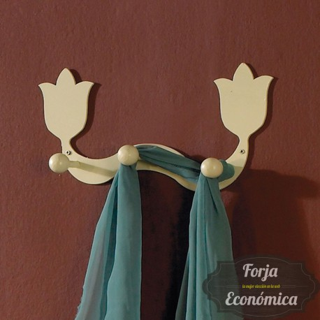 Percha de Forja de Pared TULIPAN